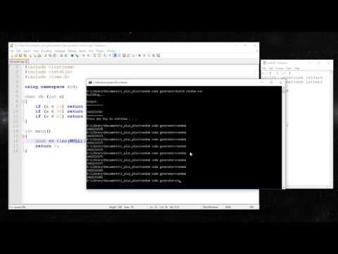 C++ - Create a random code generator (random characters)