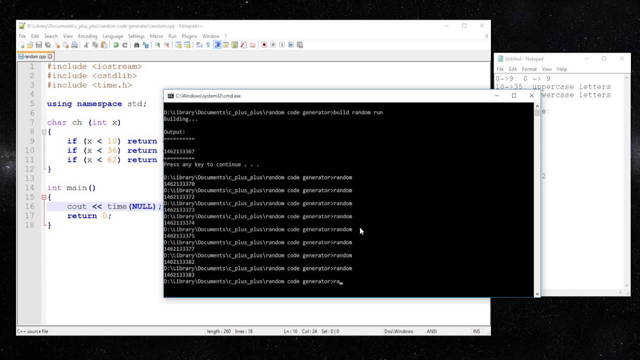 C Create a random code generator random characters
