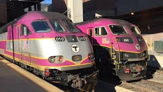 Railfanning Boston South Station 8/23/16