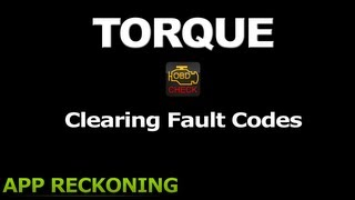 Torque - Clearing Fault Codes