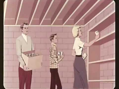 Family Fallout Shelters - Home Preparedness Workshop - 1960 - CharlieDeanArchives