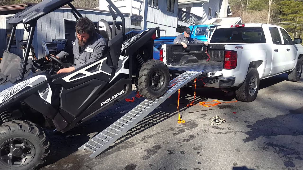 Rzr Trail In Truck Bed
