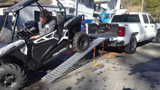 Loading Polaris RZR 900 into Standard Bed Pickup using a  Winch