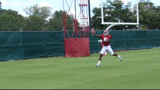 Alabama DBs work during fall practice - August 16