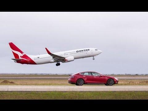 Elektrikli Otomobil, Uçakla Yarıştı