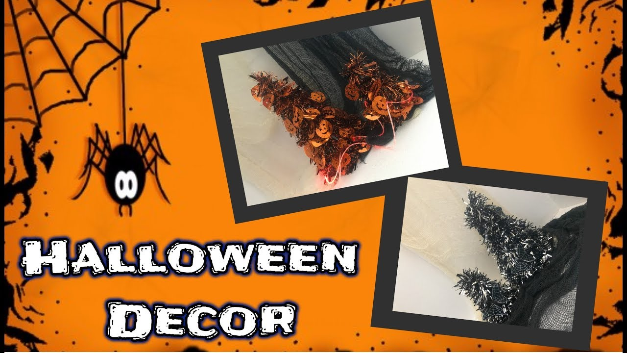 DIY Dollar Tree Halloween Decor Spooky Halloween Trees