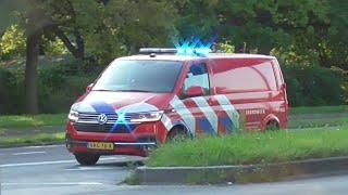 Hulpdiensten rukken groots uit voor grote brand aan Giessenweg Rotterdam Spaanse Polder!