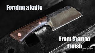 How to forge a knife - From start to finish