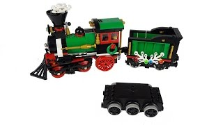 How to motorize the Lego Winter Train with a 9V or 12V motor
