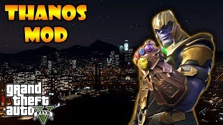 GTA V Thanos MOD gameplay (with Fortnite skin).