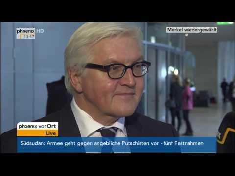 Wahl der Bundeskanzlerin: Frank-Walter Steinmeier (SPD) im Interview am 17.12.2013