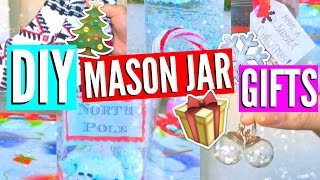 DIY Mason Jar Gifts + Essentials! Holidays 2016 //EliseLife