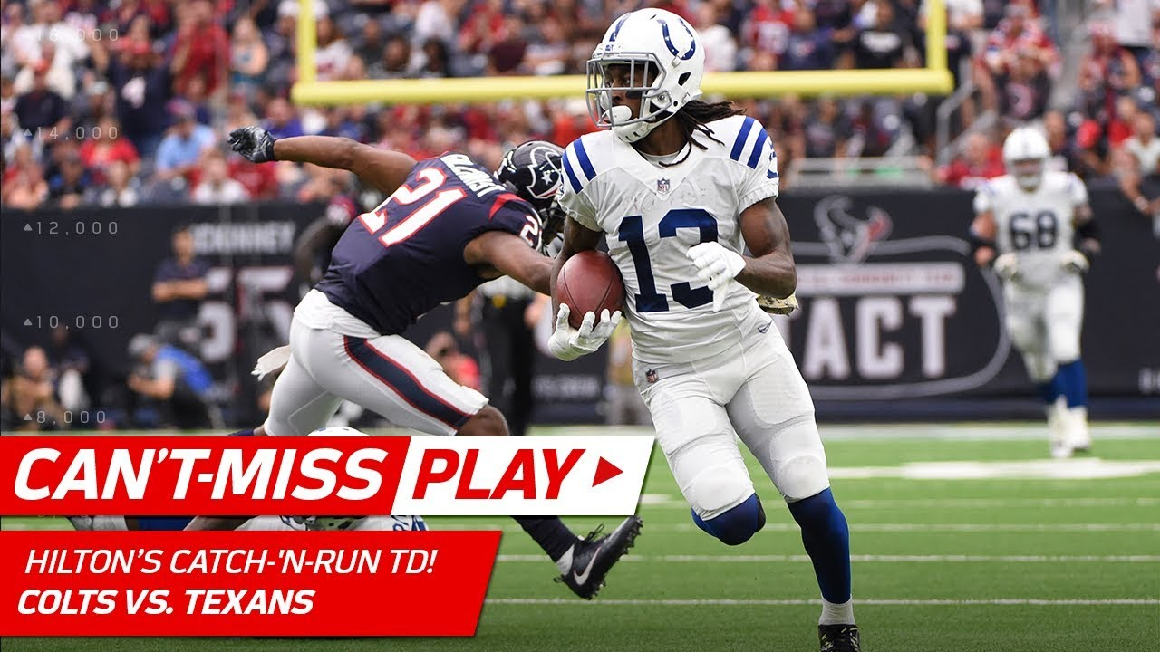 T Y Hilton Makes the Grab Dives to Avoid Tackle & Gets Up for a