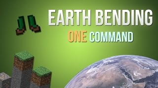 Minecraft - Earth bending in one command!