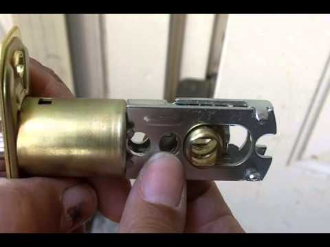 Installing a Doorknob with Keyed Lock - YouTube