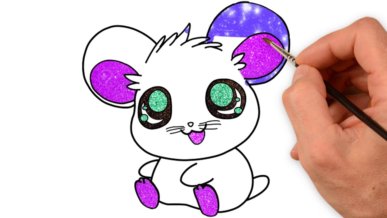 how to draw cute animals with big eyes coloring page draw animals mouse cute step by step easy. Black Bedroom Furniture Sets. Home Design Ideas