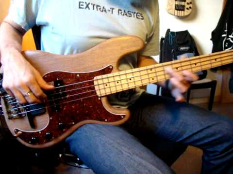 mahogany-maple Precision bass with Bartolini musicman style bridge pickup & midi GK3b