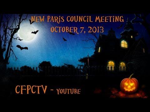 New Paris Village Council October 7 2013