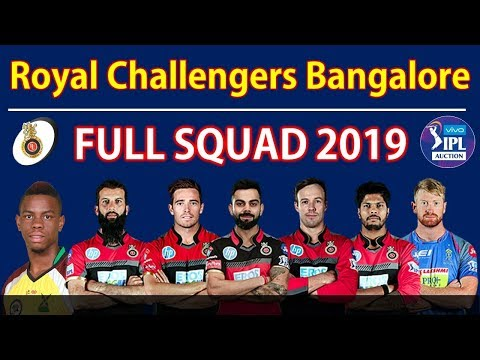 IPL 2019 | Royal Challengers Bangalore 2019 Full Squad | RCB All 24 Players