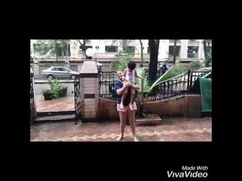 Hot Actress Sapna Sappu enjoying Rain at her resident