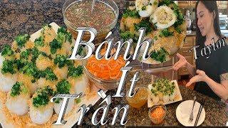 Bánh Ít Trần - Cách làm bánh ít trần ngon mềm và dẻo - Savory sticky rice dumplings