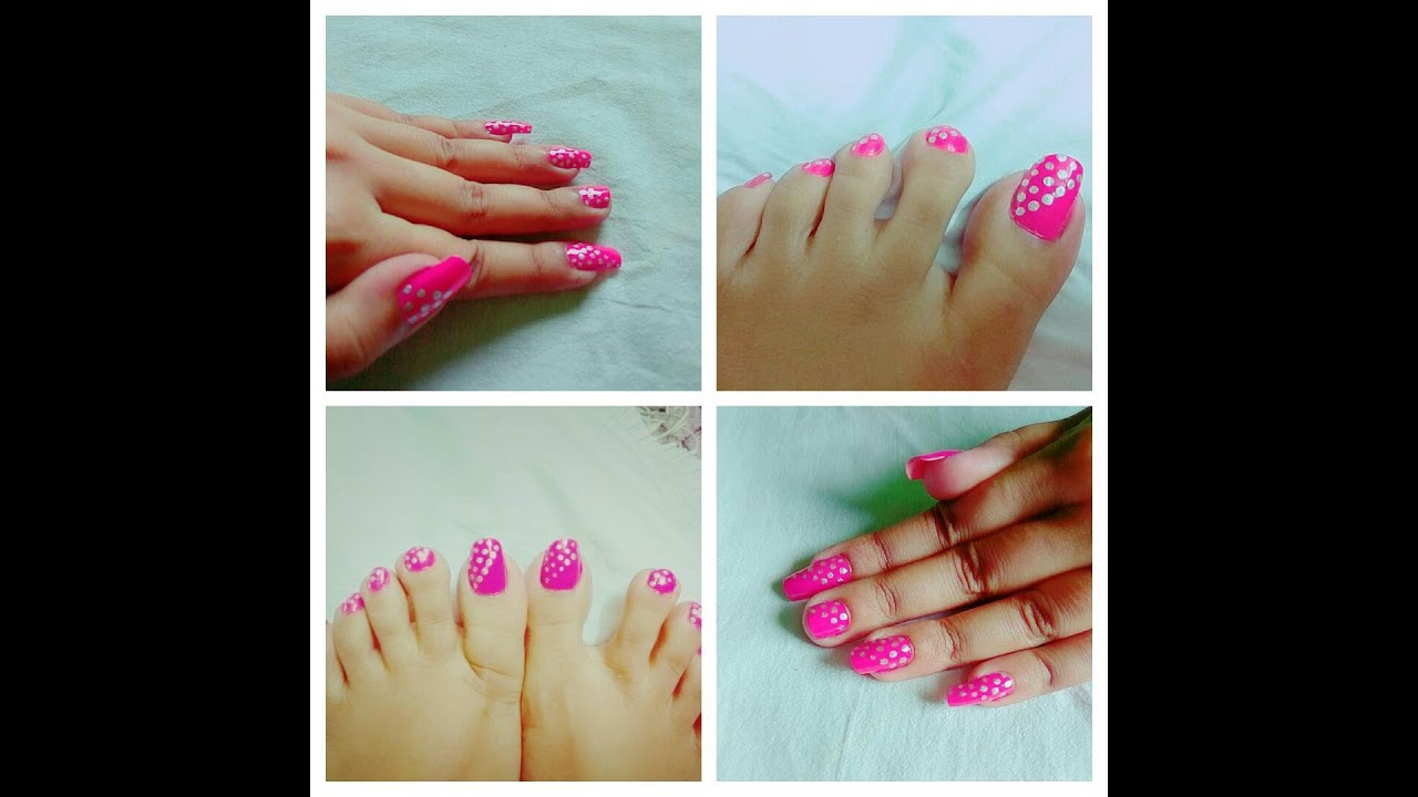 Simple Nail Art For Short Long And Also For Leg Nails By Artsy