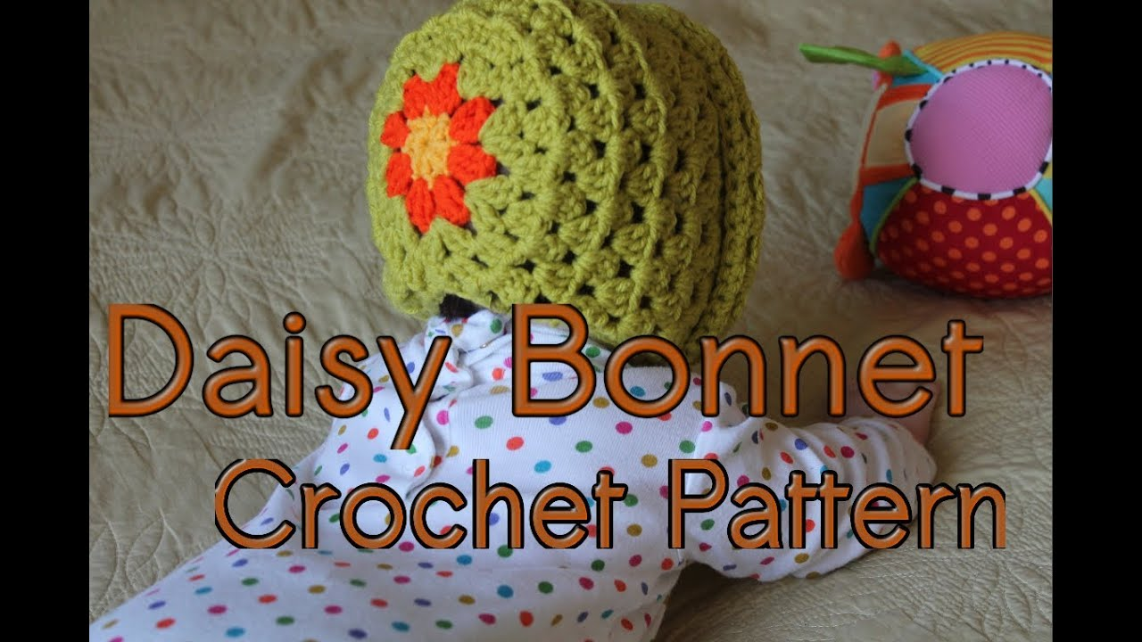 425ca73b0e7 Daisy Bonnet Crochet Pattern Tutorial - YouTube
