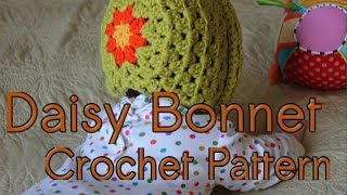 Daisy Bonnet Crochet Pattern Tutorial