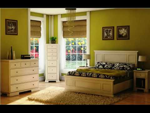 Bedroom with Dark Green Walls ideas - YouTube