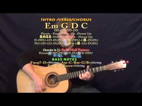 Timber (Pitbull) Guitar Lesson Chord Chart - Capo 4th