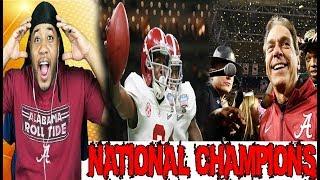 Tua Tagovailoa Game Winning Touchdown Reaction Alabama Vs Georgia 2018 National Championship