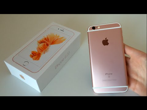 rose gold iphone 6s unboxing setup hands on 128gb youtube