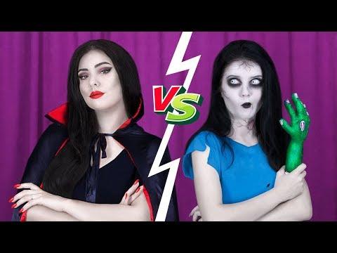 8 DIY Zombie Makeup vs Vampire Makeup Ideas |
