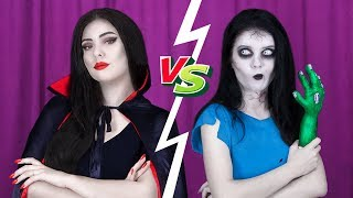 8 DIY Zombie Makeup vs Vampire Makeup Ideas