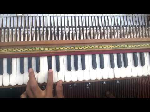 Learn to play natrang theme marathi song on harmonium (Tutorial)