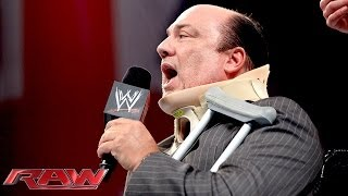 CM Punk brutally attacks Paul Heyman with a Kendo stick: Raw, Nov. 11, 2013