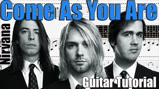 Come As You Are Guitar Tutorial - Easy Guitar Songs for Beginners - How To Play Guitar Songs