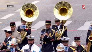 French Army Band plays Daft Punk Pentatonix Medley @ Bastille Day parade - Ft. Trump & Macron