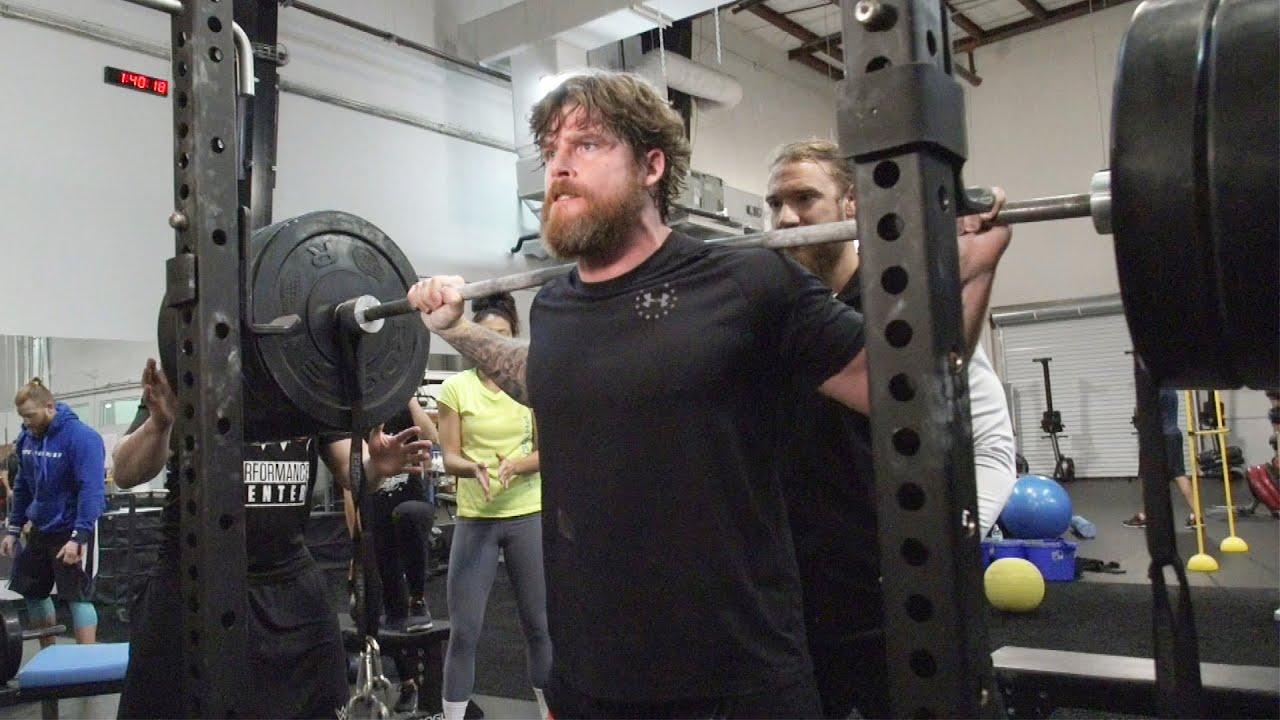 "The WWE Performance Center kicks off ""Squatober"""