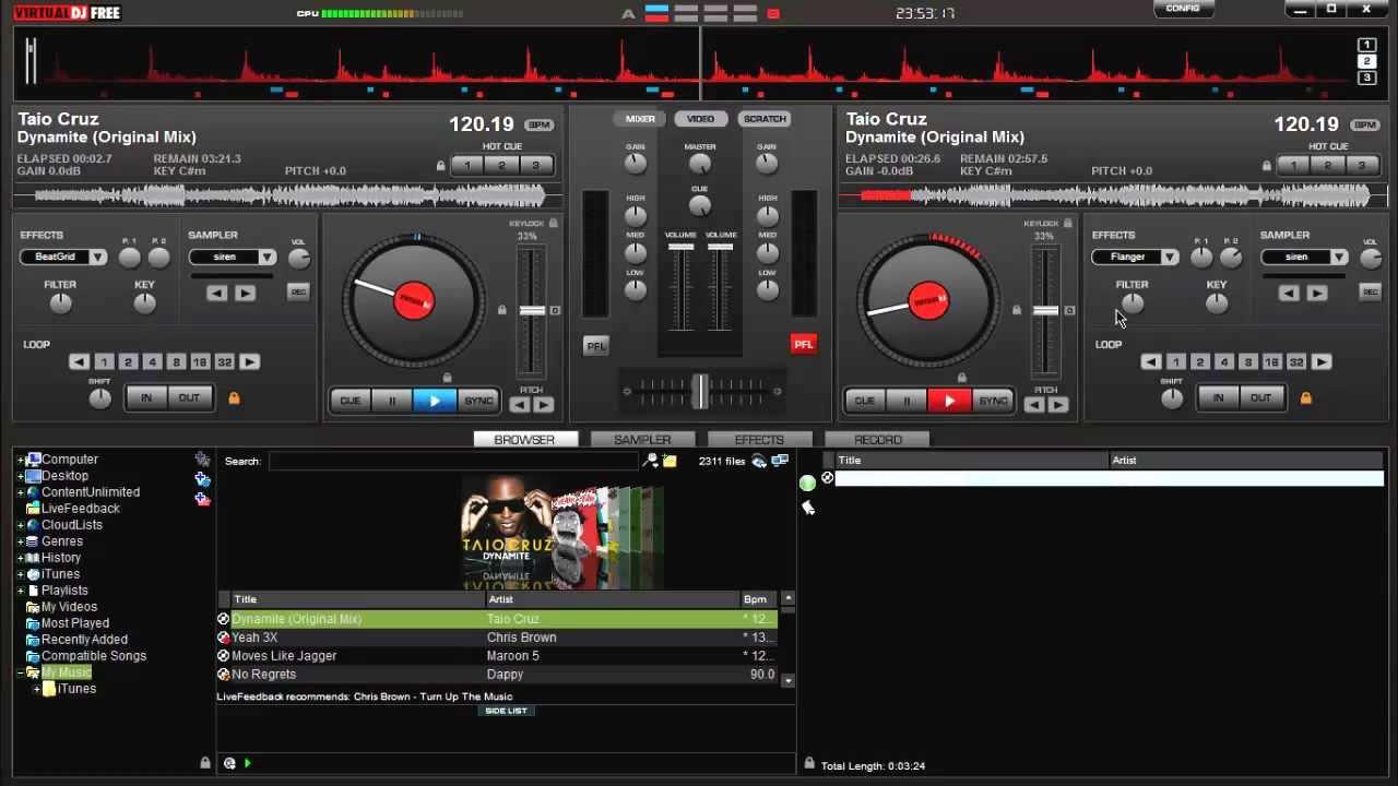 virtual dj home free tutorial mixing songs