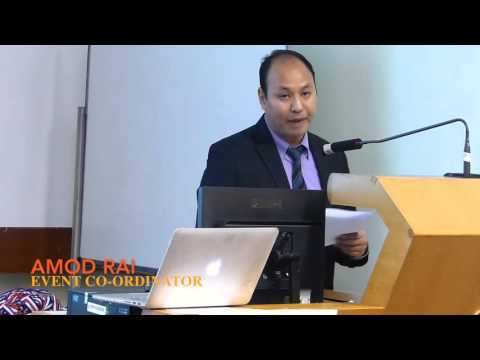 HK Nepalese New Graduates 2015 - Amod Rai sharing the objectives of the event