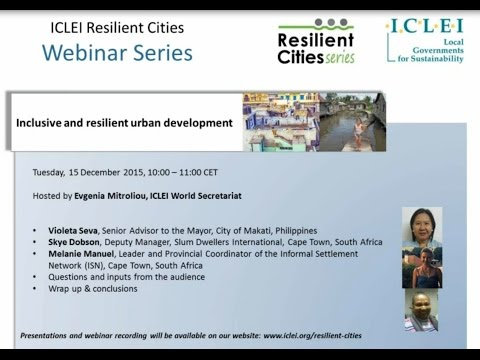 Inclusive and Resilient Urban Development