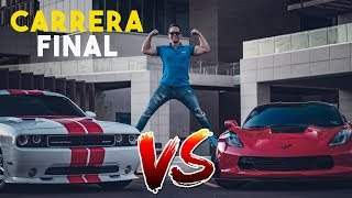 CARRERA FINAL CORVETTE Z07 VS CHALLENGER SRT || ALFREDO VALENZUELA