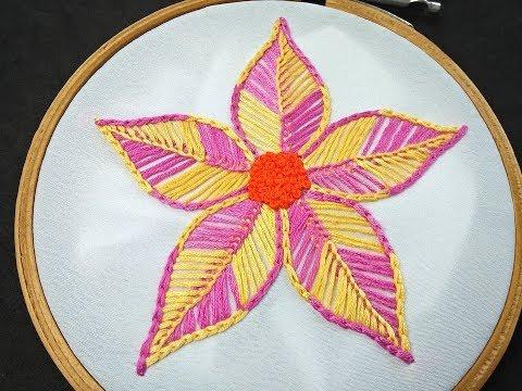 Hand Embroidery | Fantasy Flower Stitch | Brazilian Flower Embroidery |Brazilian Embroidery Tutorial