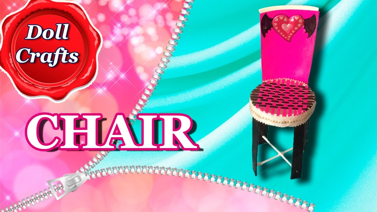 How to make a CHAIR for Dolls (Monster High, Ever After High, Barbie ...