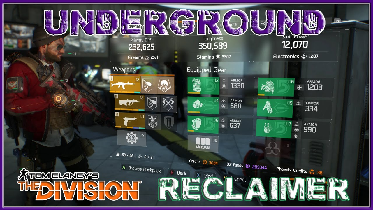 The Division Gear Set Build Youtube