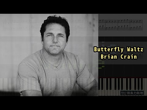Butterfly Waltz, Brian Crain (Piano Tutorial) Synthesia 琴譜 Sheet Music