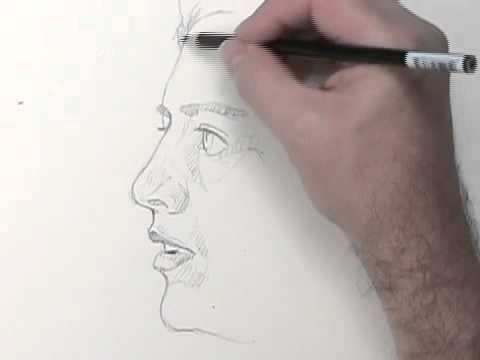drawing-a-side-view-portrait