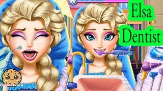 Elsa Goes To Dentist For Cavity In Tooth + Barbie Dental Let's Play Online Games