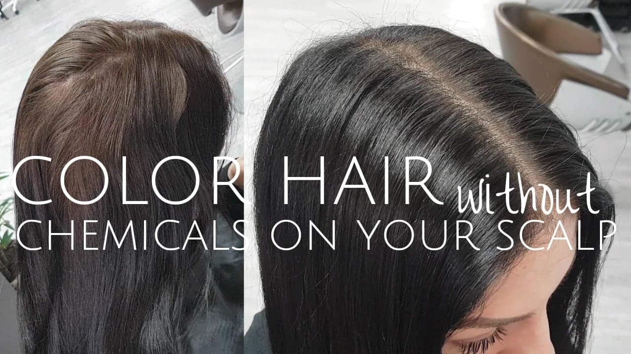 How To Color Hair Without Chemicals On Scalp Youtube
